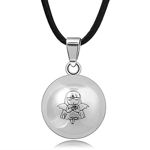 AEONSLOVE Fairy Angel Sounds Bell Harmony Ball Angel Caller Pendant Necklace Baby Angel Guardian (Necklace Pink Fairy)
