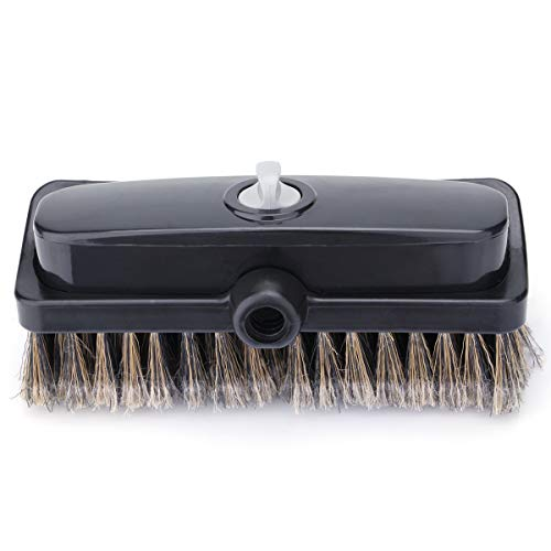 FENGGU Can Add Cleaning Powder 93117 Flow-Thru Auto Wash Car Wash Brush Head with Soft Bristle Bi-Level Dip Heavy Duty Car Washing Brush Head - Grey