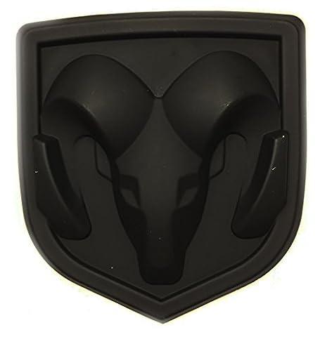 New Matte Black Ram Head Emblem Replace OEM Mopar Dodge Ram Charger Challenger 68082011AA - Nuovo Dodge Caricabatterie