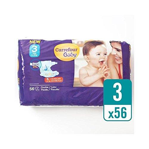 Carrefour Bebé Tamaño Ultra Seco 3 Pañales Paquete Esencial 56 Por ...