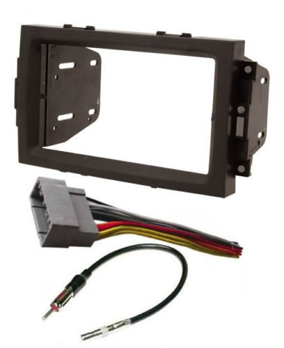 Chrysler, Dodge, Jeep 2004-2008 Car Stereo Install Dash Kit Radio Wire Harness and Antenna Adapter for Double DIN