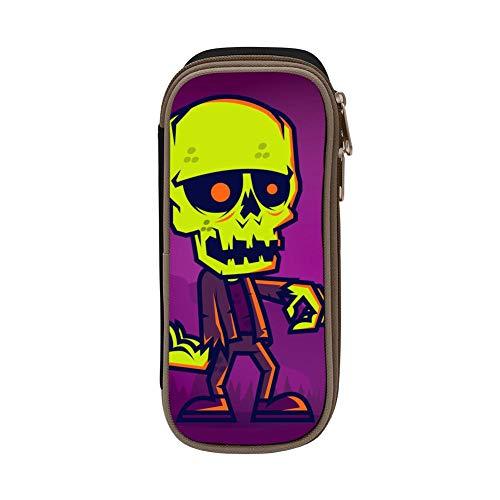 Pencil Case Halloween Zombie Pencil Holder Organizer Large Capacity -