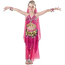 9a184b0c29acc iMucci 90-150cm Child Gril Belly Dance Costume Set Top Skirt Bracelets Veil  Belp Bollywood