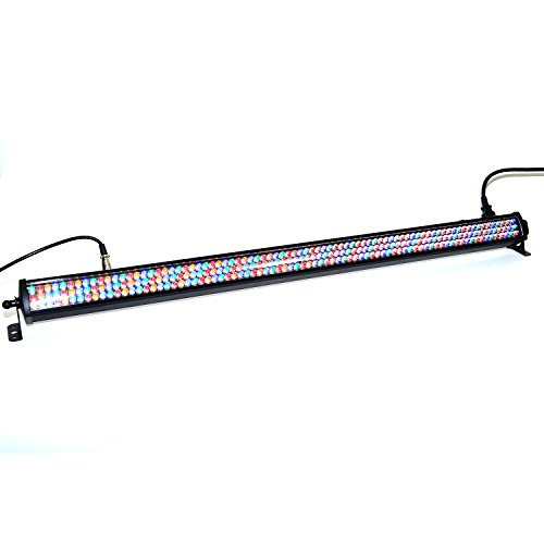 DragonX RGB Amber Slim LED Wash Mega Bar/DJ Stage Color Strip Flood Light Compatible with DMX Controller (Bar Dj Light)