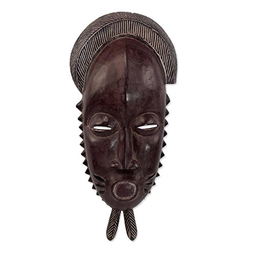 rge Wood Mask, Brown, Tribal Baule' ()