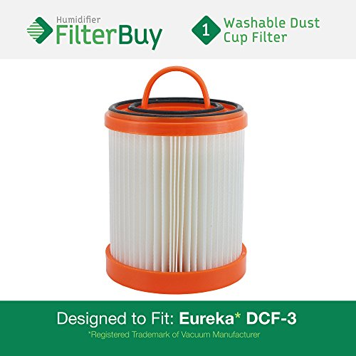 Price comparison product image FilterBuy Eureka DCF-3 Compatible HEPA Filter. Designed by FilterBuy to Replace Eureka Part #'s 61825, 62136, 62136A, DCF3.
