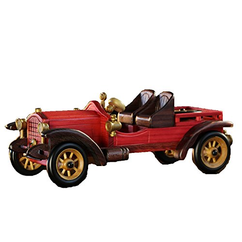 Cosette Vintage Collect Handmade Realistic Classic Guests Vehicle Red Wooden Car (Classic Vehicle)