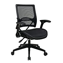 SPACE Seating Air Grid Dark Back and Seat, Multi Function 4-Lever Control Base Managers Chair