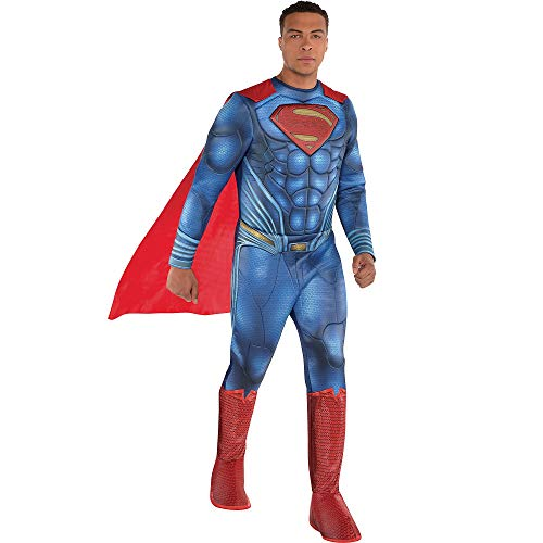 Costumes USA Justice League Part 1 Superman Muscle Costume For Adults,  Standard Size, Includes