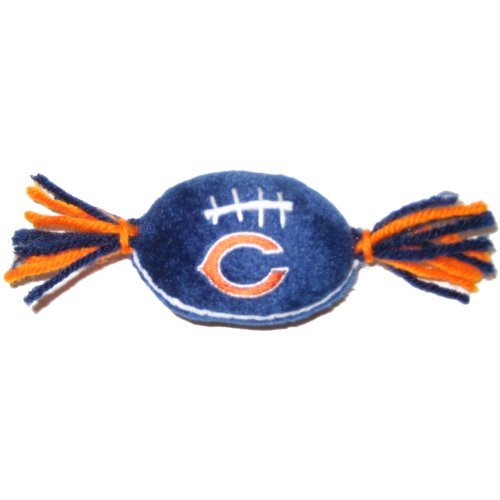 Pets First NFL Catnip Toy, Chicago Bears CAT Toy in Football Shape with Team Logo in Vibrant Team Color