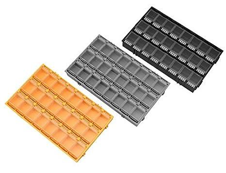 24er SMD Container Mä useklo aneinandersteckbar Sortiment Box SMT 0603 0805 1206 Farbe Orange Onpira 52032