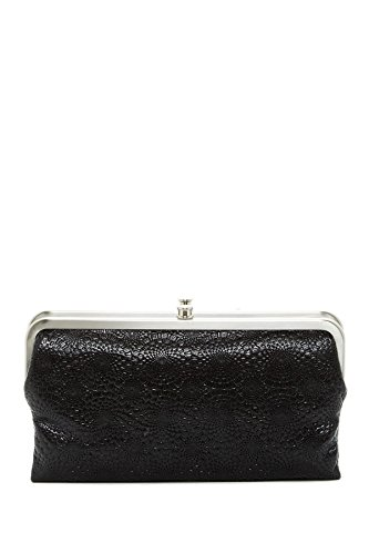 Embossed Clutch Wallet (Hobo International Lauren Embossed Leather Wallet Clutch,)