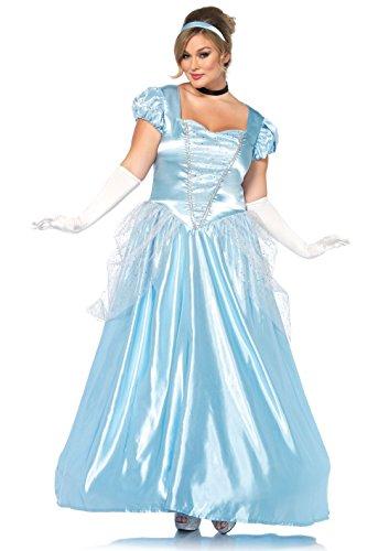 [Classic Cinderella Costume - Plus Size 1X/2X - Dress Size 16-20] (Cinderella Fancy Dress Adult)