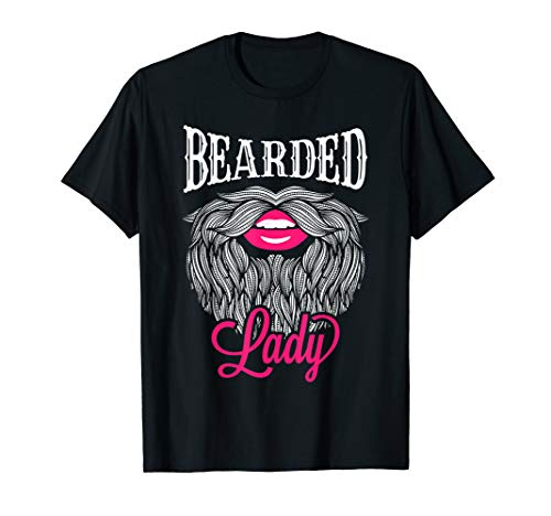 Bearded Woman Costume (Bearded Lady Tshirt - Vintage Circus Bearded Lady Costume )