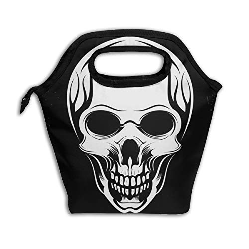 (Lcokin Customized Badass Skulls Snorkel Insulated Lunch Bag Ice Bag Bag, Personal Handbag Shopping Bag)