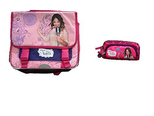 Violetta: Bolsa escolare + Estuche