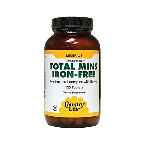 Country Life Target Mins Iron-free Total Mins Multi-mineral Complex, 120-Count - No Iron Multi Mineral Complex