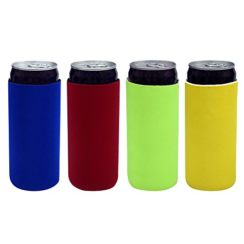 Acelane Beer Can Sleeves Cooler Insulated Covers Extra Thick Neoprene Fits Most 12 oz Cans Beer Soda Soft Drinks -Pack of 4