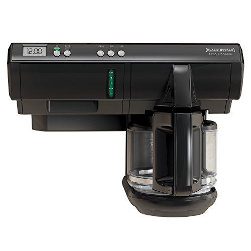 BLACK+DECKER SCM1000BD Space Maker 12-Cup Programmable Coffee Maker, Black (Toaster Oven Under Cabinet Mount compare prices)