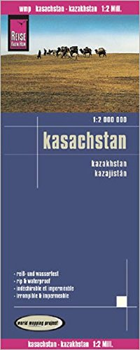 Kazakhstan 2016 : Rip & Waterproof Map by Reise Know-How (English, Spanish, French, German and Russian Edition)