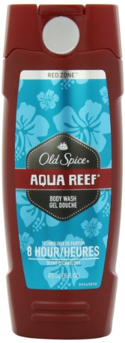 Old Spice Red Zone Aqua Reef Scent Men's Body Wash 16 Fl Oz (Pack of 3)