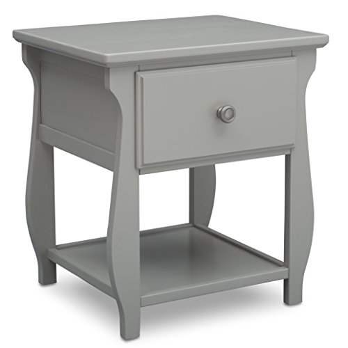 Delta Children Lancaster Nightstand, Grey (Table Or Bedside Nightstand)