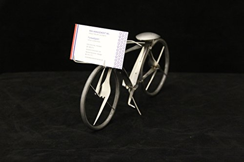 Stainless Steel Bicycle Business Card Holder