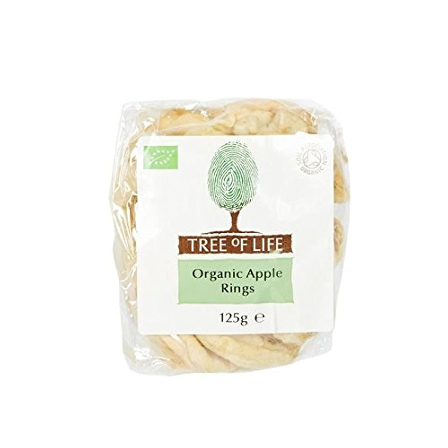 Tree of Life Organic Apple Rings 125g - Pack of 2