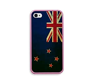 New Zealand Flag Pink Bumper iPhone 4 Case - Fits iPhone 4 & iPhone 4S