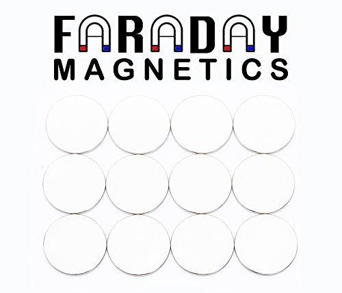12-Pack Faraday Magnetics más alto grado N52 imanes de neodimio disco Súper Fuerte Para Frigorífico, científico, manualidades, manualidades, Hobby, oficina, ...