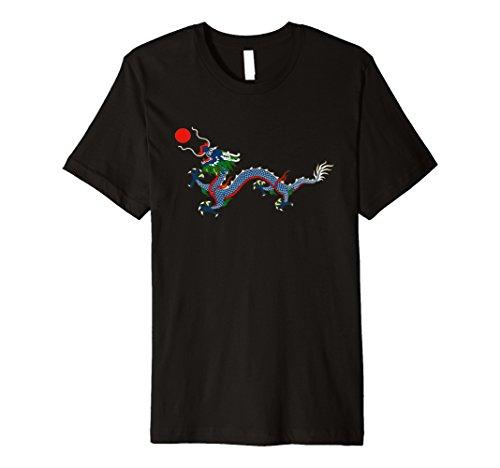 China Dragon T-shirt (Qing Dynasty Flag Chinese Empire Dragon China T Shirt)