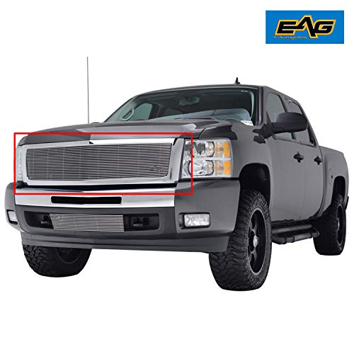 EAG Chrome Billet Grille+Shell for 07-13 Chevy Silverado 1500