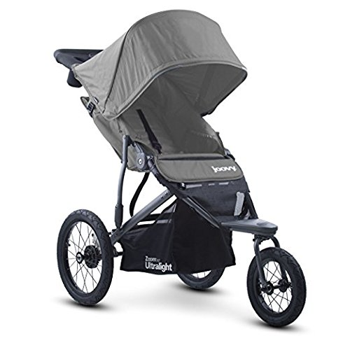 (Best JOGGER ULTRALIGHT Baby Stroller, Car eat Adapter, Umbrella, Travel Systems Ready! For Infants, Toddlers And Kids, JPMA Certified, Grey Color with Free Awesome(R) Hooks!)