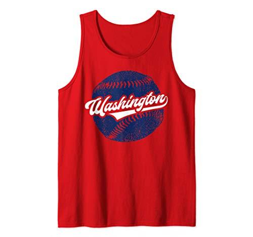 (Washington Baseball | Retro Vintage National Gift Tank Top)