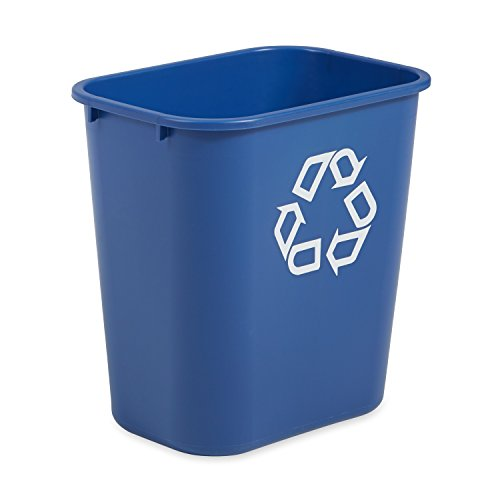 Rubbermaid Commercial Plastic Deskside Recycling Container