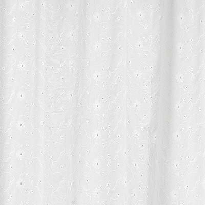 Sweet Jojo Designs White Eyelet Kids Bathroom Fabric Bath Shower Curtain