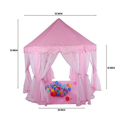 Truedays-Girls-Princess-Castle-Play-Tent-Large-Playhouse-  sc 1 st  Discount Tents Nova & Truedays Girls Princess Castle Play Tent Large Playhouse Indoor ...
