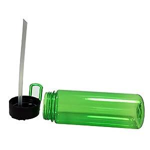 YaCool 21 OZ Newest Design Sports Water Bottle Durable Leak Proof Flip Top School Cycling Running Gym Yoga - Red, Blue, Purple & Green (Green)