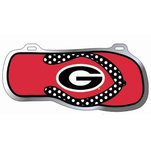 Georgia Bulldogs Flip Flop Car Tag (Georgia Southern Car Flag)