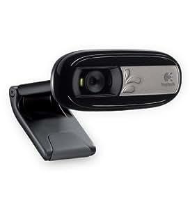 Logitech C170 - Webcam (Enchufar y usar, Micrófono incorporado), Negro