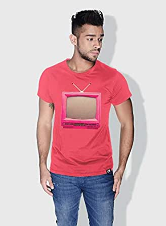 Creo Tv Retro T-Shirts For Men - S, Pink