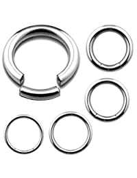 10 PIECE Wholesale Lot of Steel Segment Rings Captive Bead Body Jewelry