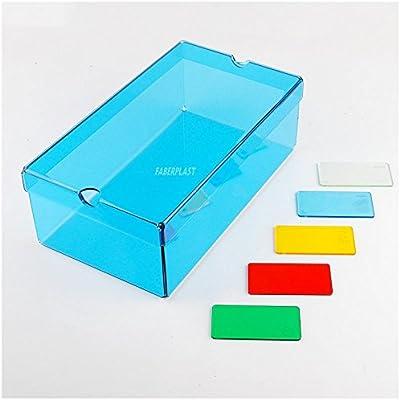 Faberplast FB1065 - Caja varios usos, color amarillo translucido ...