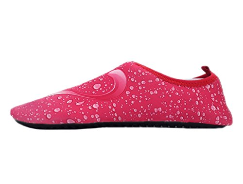 Water Shoes Wave Pool Beach Swim Aqua Socks Yoga Mens Womens Slip On for Santimon Character Red NUYDEN