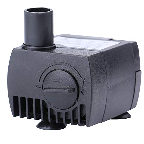 Minerva 63 GPH (200 L/H, 2W) Submersible Water Pumps for Aquarium, Tabletop Fountains, Pond, Water Gardens and Hydroponic Systems with One Nozzles, CE-ROHS Approved, 5.9ft Power Cord ()