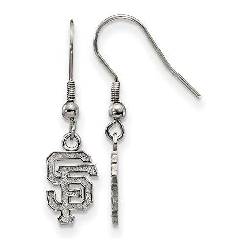 (MLB San Francisco Giants Stainless Steel San Francisco Giants Dangle Earrings Size One Size)