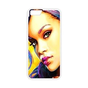 DIY Stylish Printing Rihanna Cover Custom Case For iPhone 6 Plus 5.5 Inch MK2H3091