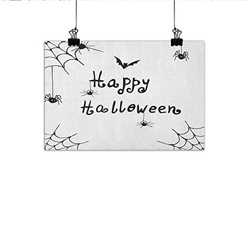 Littletonhome Spider Web Abstract Painting Happy Halloween Celebration