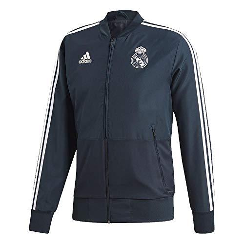 (adidas 2018-2019 Real Madrid Presentation Jacket (Dark Grey))
