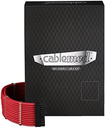 CableMod PRO ModMesh CシリーズRMI&RMx(Black Label)ケーブルキット- レッド [CM-PCSR-FKIT-NKR-R]